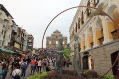 Macao: Fördärvar av St Pauls Royaltyfri Bild