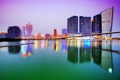 Macao horisont Royaltyfria Bilder