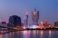 Macao horisont Arkivfoton