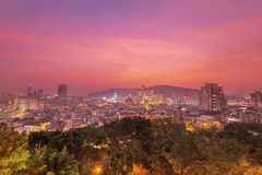 Macao im Stadtzentrum gelegen in der Dämmerung Lizenzfreies Stockfoto