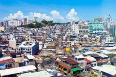 Macao ingepakte huizen royalty-vrije stock fotografie