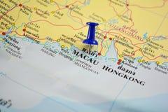Macao-Karte Stockbild