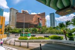 Macao Kina - April 23, 2019: Wynn hotell och kasino royaltyfri foto