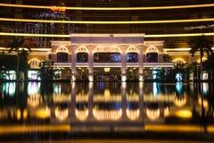 Macao Kina - 2014 10 15: Macao - dobblerihuvudstaden av Asien Fotoet av det berömda Wynn hotellet Royaltyfria Bilder