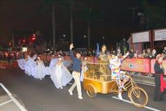Macao: Kinesisk beröm 2015 för nytt år Royaltyfria Foton