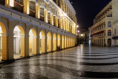 Macao landmark - Senado Square Stock Photo