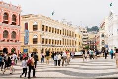 Macao landmark - Senado Square Stock Images