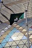 Macao-Markierungsfahne vor neuen Kasinos Lizenzfreie Stockfotografie