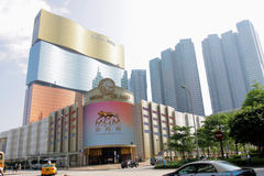 Macao: Mgm Grand hotell Royaltyfria Bilder