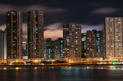Macao at night. Macao Downtown at night from the north Side Royalty Free Stock Photos