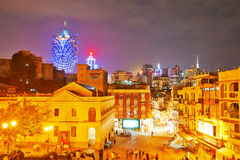 Macao night scape Stock Photo
