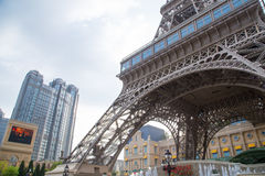 MACAO - 29 OCT: Paryżanina Macao Hotelowy kurort w Macao na 29 2016 Październiku Obraz Stock