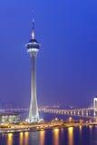 Macao på natten Arkivfoto