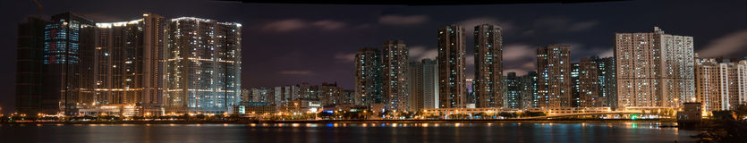 Macao Panorama at night Stock Images