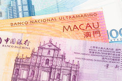 Macao-Patacageldbanknote Stockfoto