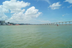 Macao sea landscape, in China Royalty Free Stock Photography