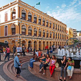 Macao, Senado Square Royalty Free Stock Photography