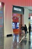 macao shoppar swarovski Arkivbild