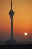 macao solnedgång Arkivbild