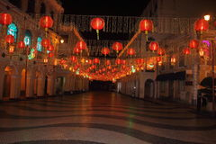 Macao during the Spring Festival evening The scenery Stock Photo