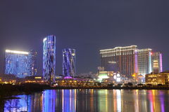 Macao: Stad av den dröm- & sandContai centralen Arkivfoton