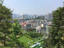 Macao stadssikt från Monte Fort Royaltyfri Foto