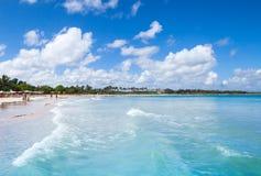 Macao strand, populär semesterort av Dominikanska republiken Arkivbild