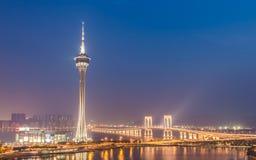 Macao: Torre de Macao Imagen de archivo