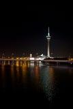 Macao-Turm nachts Lizenzfreies Stockfoto