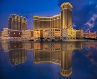 Macao veneciano y puesta del sol Fotografía de archivo libre de regalías