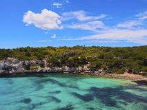 Macarella Bay on Minorca Stock Image