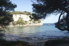 Macarella beach in menorca Royalty Free Stock Images