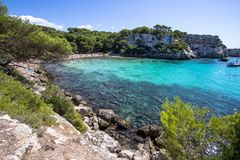 Macarellastrand, Menorca, Spanje Royalty-vrije Stock Fotografie