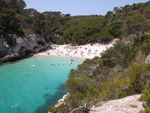 Macarelleta Beach in Menorca Stock Images