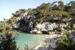 Macarelleta Beach  in Mmenorca Royalty Free Stock Image