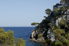 Macarelleta Beach in Mmenorca Stock Images