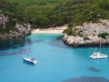 Macarelleta Bech i Menorca Arkivbild