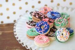 Macaron油炸圈饼 图库摄影