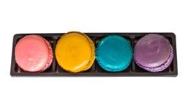 Macaron в коробке Стоковые Фото