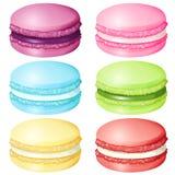 Macaron в различном вкусе бесплатная иллюстрация