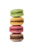 Macaron изолировало на белой предпосылке стоковые изображения rf