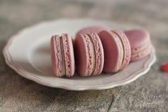 Macaron, печенье macaroons, вкусный десерт стоковое изображение rf