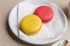 Macaron & x28; Француз Macaroon& x29; Стоковое фото RF