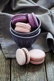 紫色macaron 免版税库存照片
