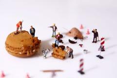 Macaron in aanbouw Stock Foto