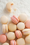 Macaron above half eaten Royalty Free Stock Photography