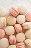 Macaron above on lace Stock Photos