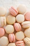 Macaron above on lace Stock Photos
