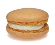 Macaron alaranjado Fotografia de Stock