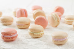 Macaron assortment macro Stock Photos